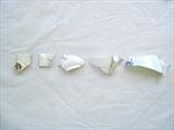 Fragmented Life Story. 2010 by sarah burgess, Ceramics, Found shards of ceramic cups